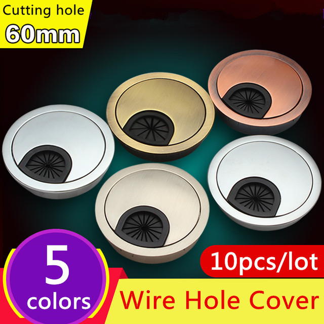 Furniture Hole Cover #37 - 10pcs 60mm Hardware Accessories Wire Hole Cover Office Furniture Computer  Grommet Desk Table Cable Tidy Outlet