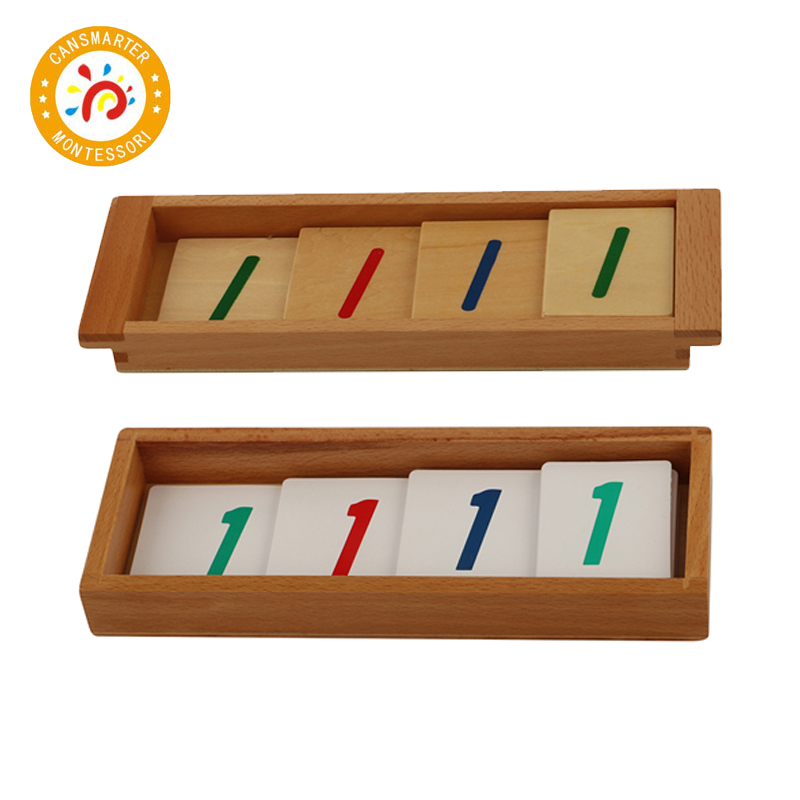 Baby Toy Montessori Material Math Introduction to Decimal Symbol Wooden Learning Numbers Early Education Children