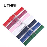 UTHAI Z11 New Watch Bracelet Belt Woman Watchbands Genuine Leather Strap Watch Band 10-24mm Multicolor Watch Bands