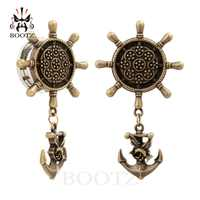 Kubooz piercing 2 pçs aço inoxidável âncora balançar orelha piercing túneis e plugues corpo jóias par venda