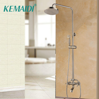 KEMAIDI New Style Free Brushed Nickel shower sets shower Faucet With Brass Handshower And Hot and Cold Shower Mixer Faucets