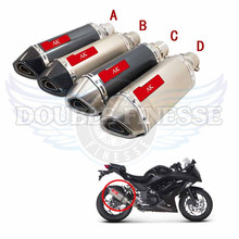 Motorcycle Exhaust pipe Scooter Muffler For HONGLONG 300/600 JOG BWS RSZ 125 MSX ZY CB400~1000 for YAMAHA 125 suzuki honda