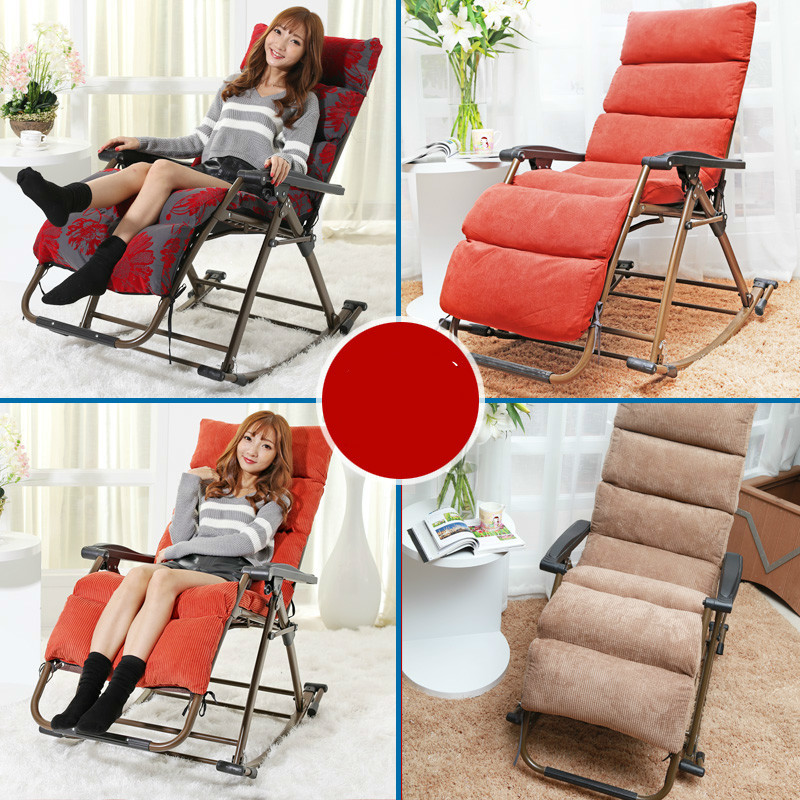 Outdoor new style excellent quality luxury leisure folding rocking chair balcony chair iron alloy free shipping in Office Chairs from Furniture
