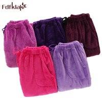 Fdfklak Winter Flannel Drawstring Pajama Bottoms Pyjama Trousers Women Sleepwear Pants Womens Floral Print Trousers Ladies Q540