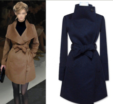Cheap and Chic Ladies Fall/Winter All-match Woolen Jacket, Simple Fashion Wool Jacket ON SALE