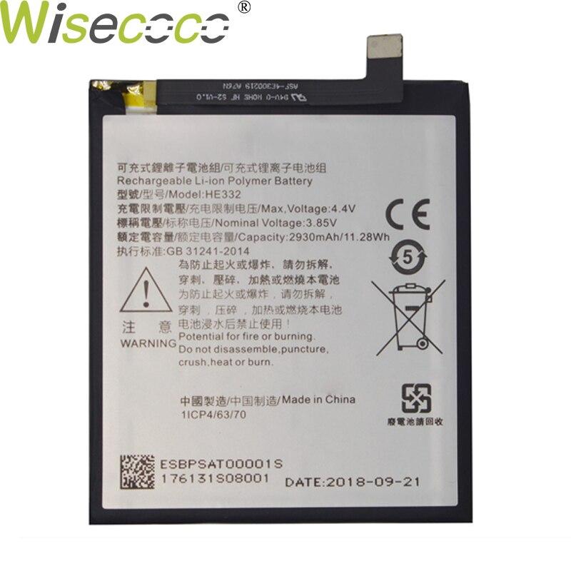 HE332 WISECOCO Nova Bateria 2930 mAh Original Para SHARP AQUOS S2 Fs8010 s2 Substituição Em Estoque Com Rastreamento Do Telefone Móvel número