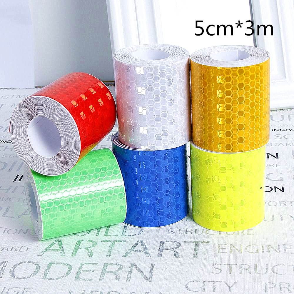 5cm*300cm Car Reflective Tape Decoration Stickers Car Warning Safety Reflection Tape Film Auto Reflector Sticker On Car Styling