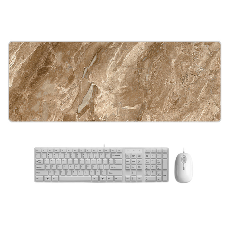Large  Desk Pad Beautiful Soft Natural Rubber Pink Gold White marble Series Mice Pad Square Gaming Mouse Pad with Locking Edge (4)