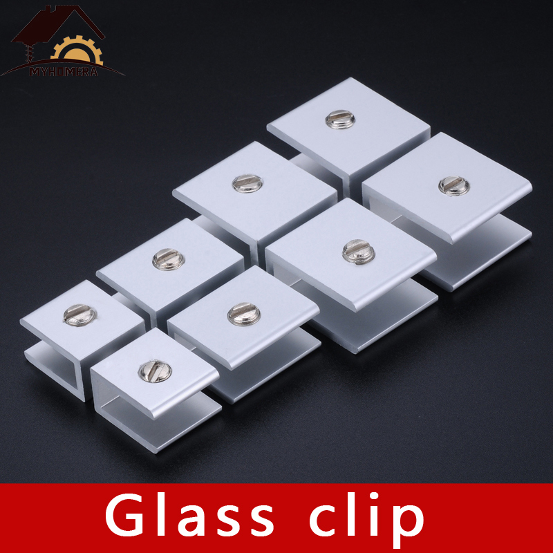 4PCS Myhomera Glass Clamps Shelves Holder Corner Bracket Clamp Aluminum For 6mm 8mm 10mm 12mm 18mm Thick Glass Clips Wholesale