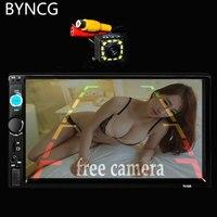 7010B AutoRadio 2 Din HD Bluetooth Auto Car Radio Stereo FM MP3 Video MP5 Player Multimedia with Rear View Camera