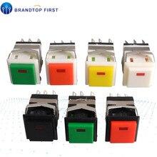 KD2-22 мгновенный вкл.-(вкл.) Квадратный светодиодный кнопочный переключатель с подсветкой