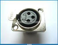 10 Pcs Metal Audio Mic Connector XLR 3 Pin Female Chassis Mount Socket Locking