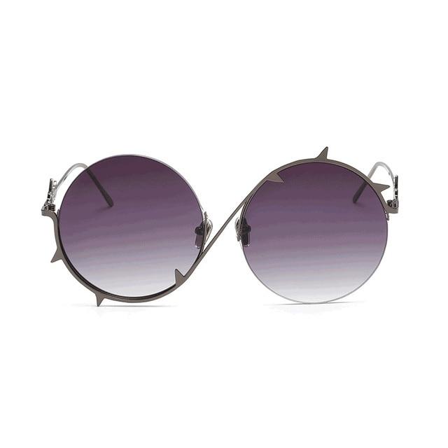 jurui brand design for men and women metal round frame thorns border personalized sunglasses j6668 sun