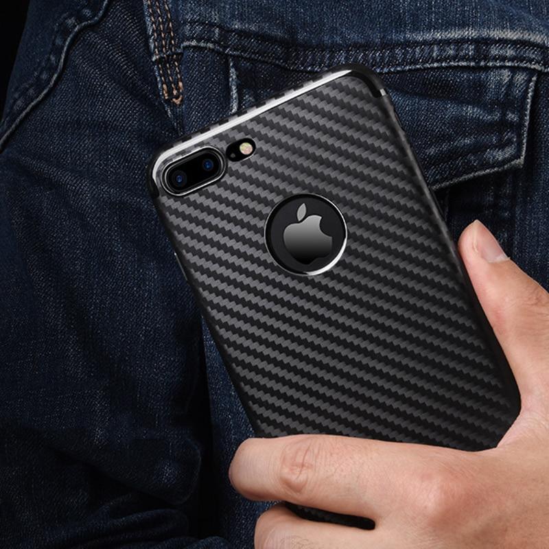 Untuk IPhone7 7 ditambah kasus shell ponsel pola serat karbon - Aksesori dan suku cadang ponsel - Foto 5
