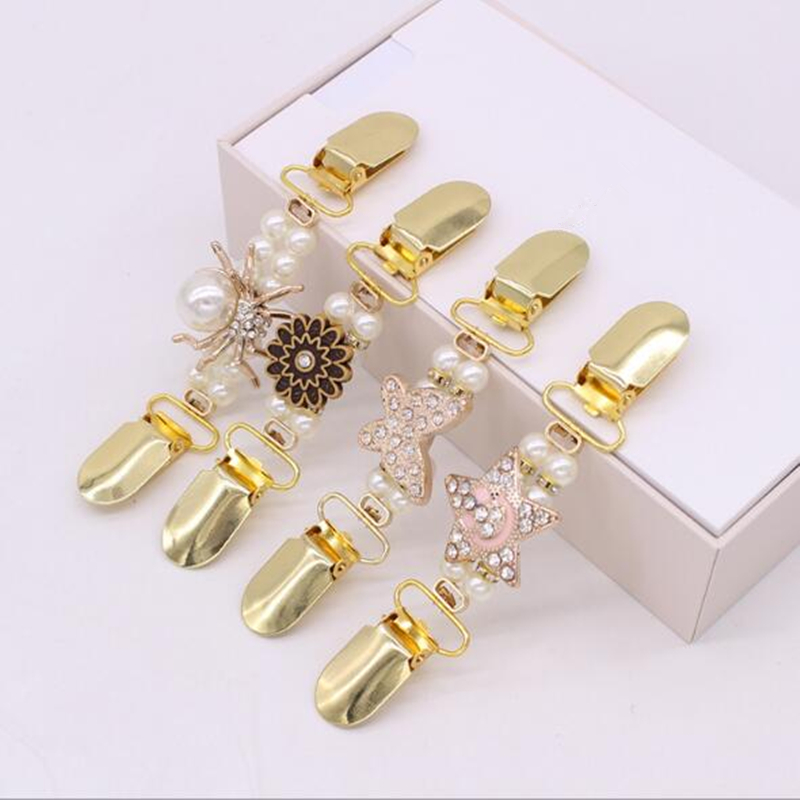 Cardigan Clip Sweater Shawl Clips Keeper Collar Duck-Mouth Plated Metal Clip Holder Garters Accessories Jewelry Gift