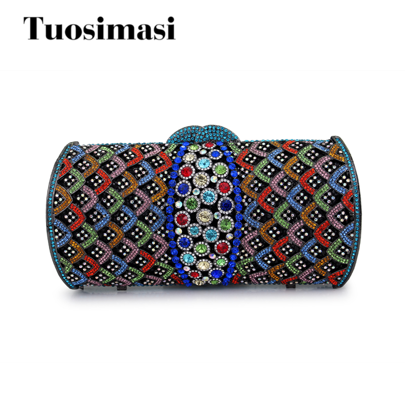 clutch bags women luxury colorful crystal evening bags ladies wedding accessories bridal party purse (HS-0924) xiyuan brand gold party purse bags women luxury silver crystal evening bags female pochette diamond ladies wedding clutch bags