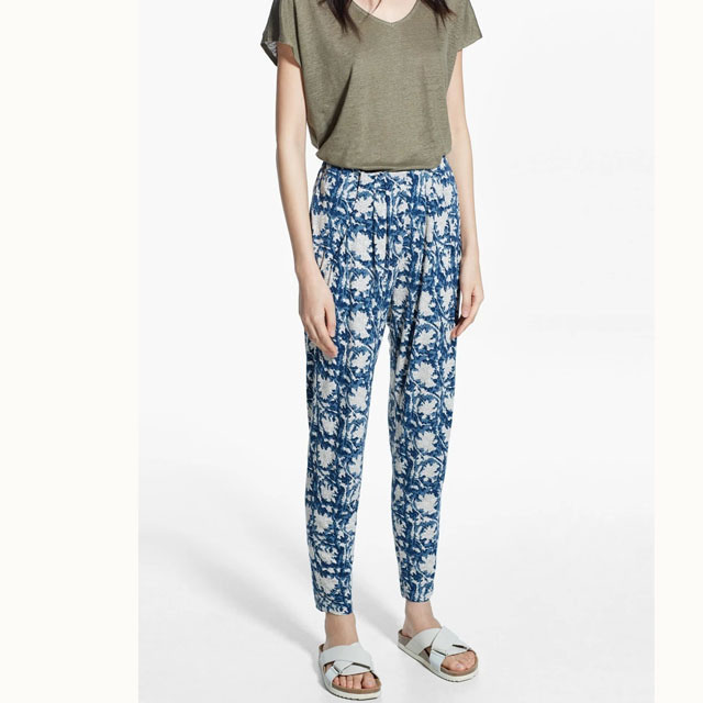 2016 Casual Cotton Trousers Elastic Waist Loose Pants ...
