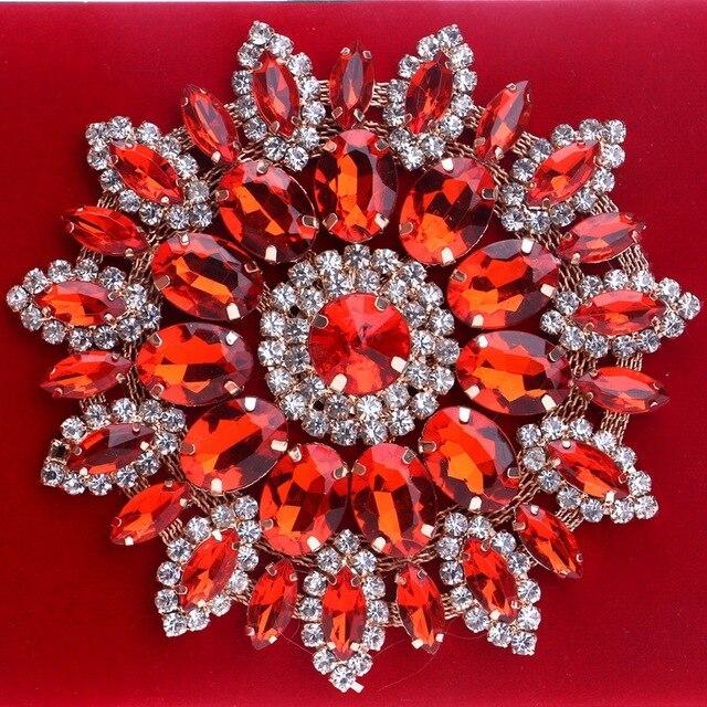 SEKUSA Flower Rhinestones Women Handbags Red Black Purple Gold Chain Shoulder Bags Metal Day Clutches Purse Wedding Wallets 5