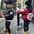 2016 brand kids jacket boys letter style children baby boys coat for winter black red children clothing newness boys clothes