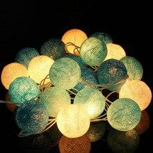 Лучший!  20 Хлопок Бал Фея Огни Строки Партии Праздник Свадебный Декор Christma Light