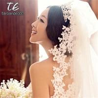 3M Cathedral Length Lace Edge Applique Long Bridal Head Veil With Comb Wedding Accessories Bride Mantilla Wedding Veil