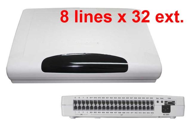 Cp832 escritório telefone pbx/interruptor com 8 linhas x 32 extensões