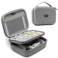 EVA Oxford Fabric Waterproof Mobile Power Storage Bag USB Data Cable Headset Travel Storage Digital Gadget Kit Bag D40