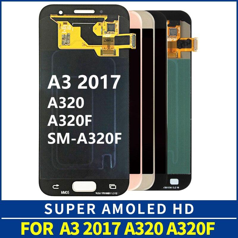 A320M SM-A320F LCD SUPER AMOLED A320 A320F LCD pour SAMSUNG Galaxy A3 LCD 2017 écran tactile numériseur remplacement