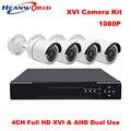 Videoüberwachung Cctv-kamera AHD System DVR Kit 1080 P HD 4CH Sicherheitssystem Im Freien Wasserdichte Überwachungskamera Kit 4 stücke