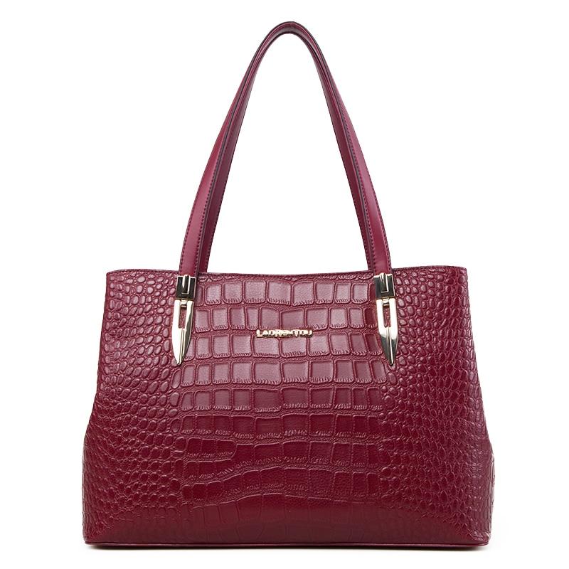 mulheres laorentou bolsa de couro Fashion Element : Crocodile Grain