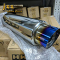 Universal Burnt blue slant cut exhaust silencer Racing car Muffler exhaust pipe