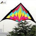 Frete grátis diversão ao ar livre esportes 2.7 m triângulo com papagaio Kandle e linha de Nylon de boa voador