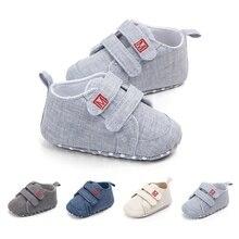 Классическая парусиновая детская обувь для новорожденных; модная обувь для маленьких мальчиков и девочек; повседневная обувь из хлопка для мальчиков и девочек; кроссовки