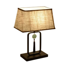 Hotel Room Villa Lamp Home Decoration Bedroom Dressing hotel study office living room Bedside Table Lamp cloth E27 desk lamp simple e27 crystal led table lamp indoor living study room bedroom bedside lighting hotel restaurant desktop decoration lights