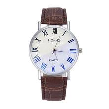 0398ec5cce02 Couple Clock Luxury Fashion Men Women Leather Quartz Analog Wrist Watch  Lovers Gift Relogio Masculino Feminino Prata Reloj