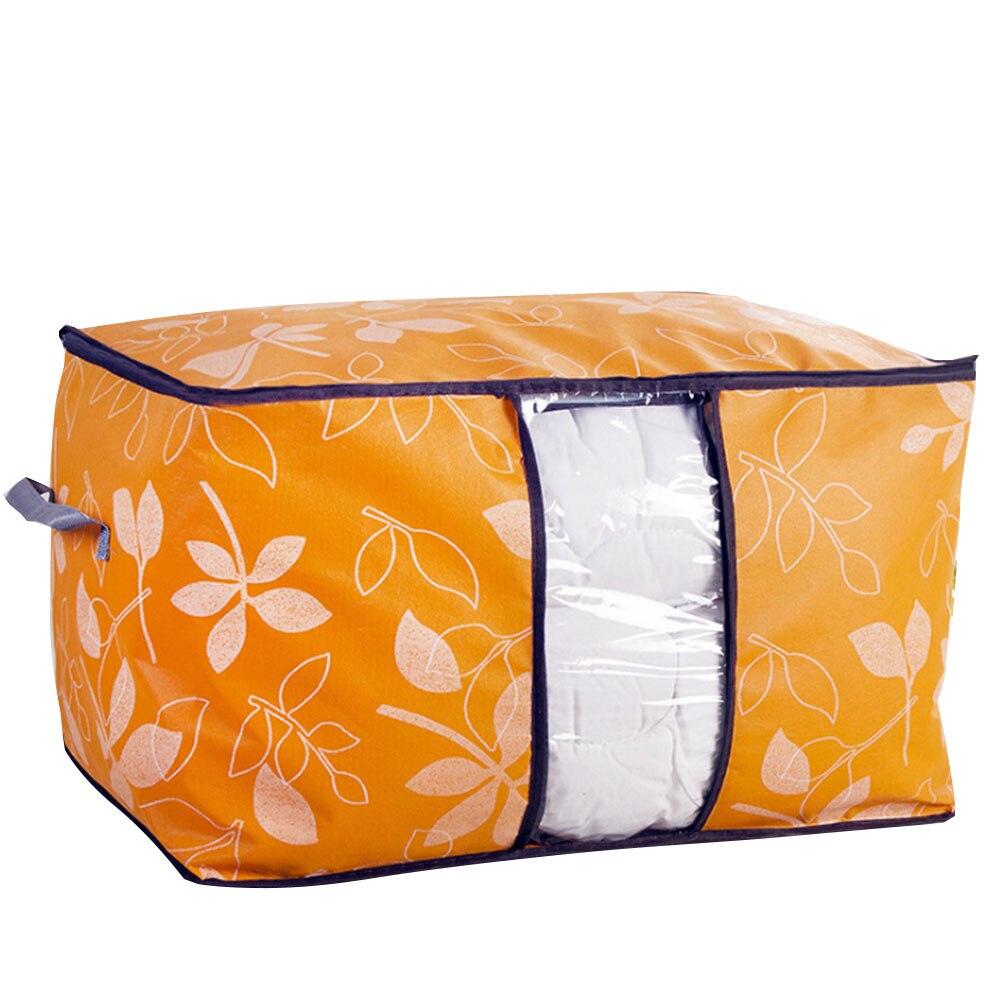 SOLEDI гардеробная сумка Стёганое одеяло из нетканого материала хозяйственная одежда багажная сумка органайзер кровать экономит термозащитное одеяло домашний гардероб - Цвет: orange