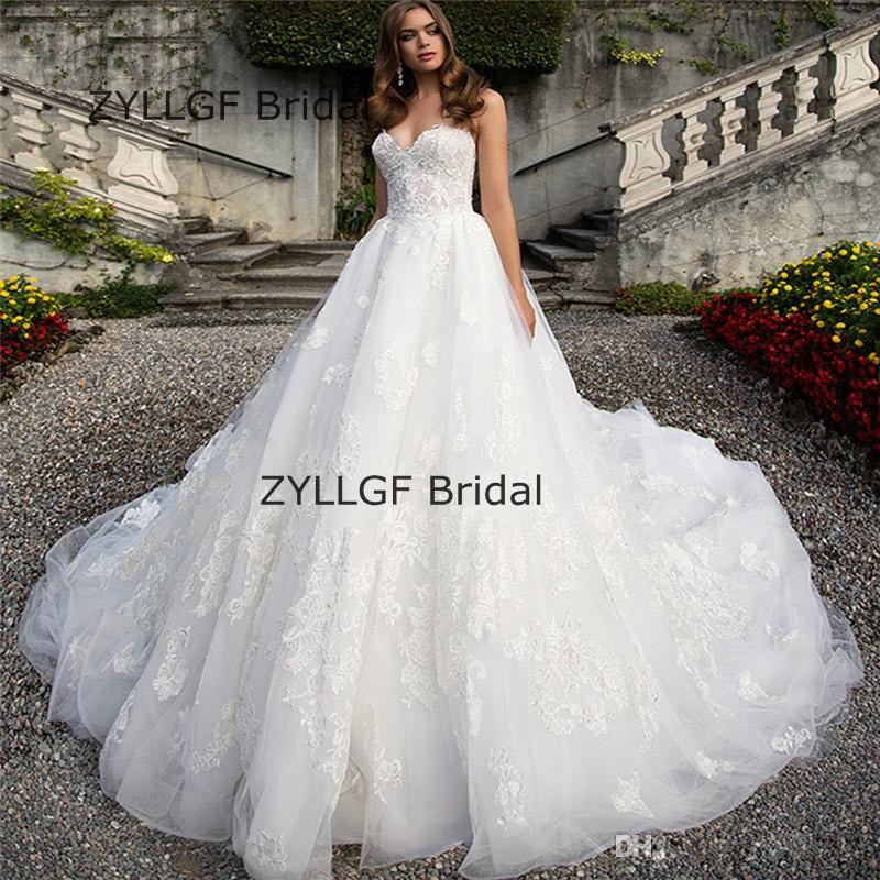 Zyllgf Bridal New Design Puffy Sweetheart Corset Wedding Gown Long Tail Dresses Gowns With Liques Rm70 In From Weddings