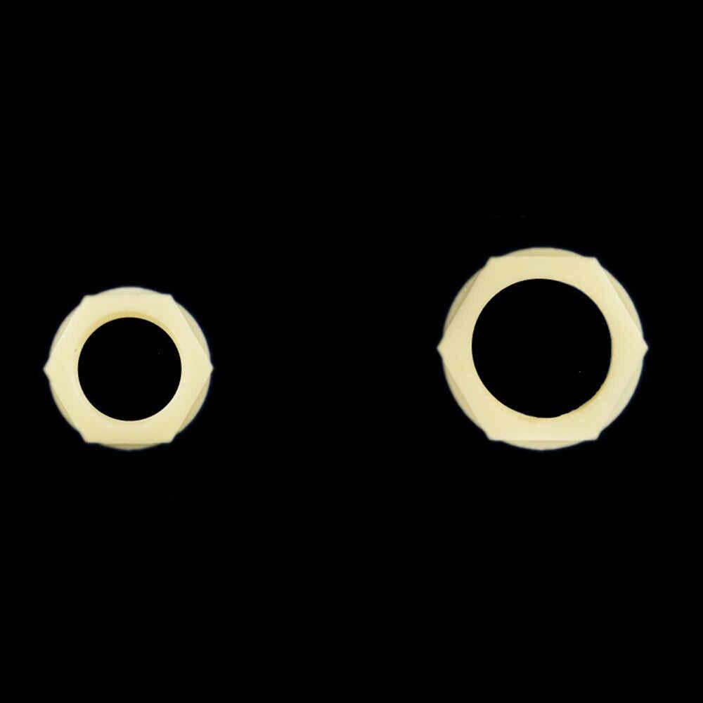 """10 Uds 1/8 """"1/4"""" 3/8 """"1/2"""" 3/4 """"tuercas de plástico de hilo femenino tuerca de bloqueo tuerca hexagonal exterior con anillo de sellado"""