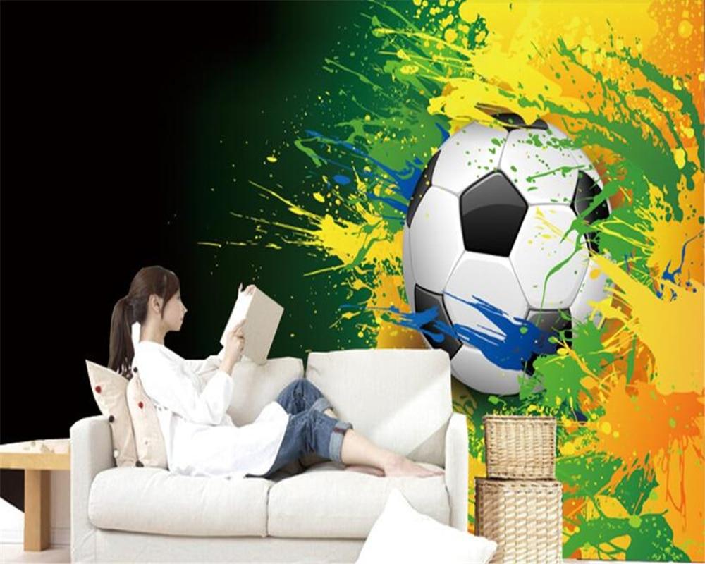 Behang Kinderkamer Voetbal : Beibehang custom behang d grote muurschildering kinderkamer