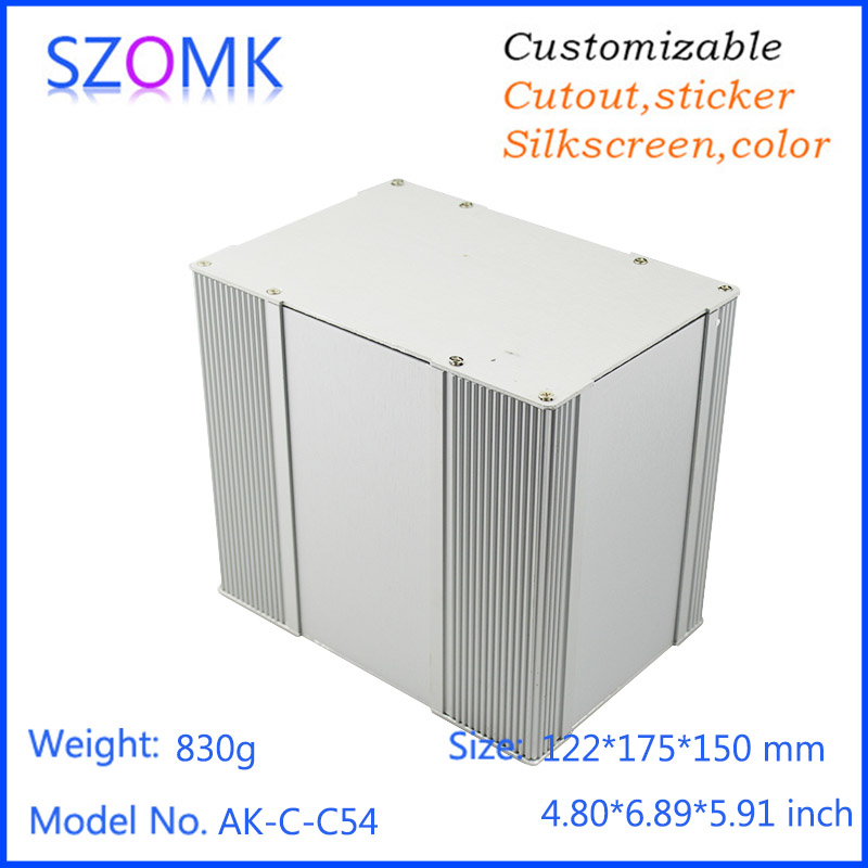 1 pcs, 122*175*150mm aluminum enclosure for electronics control box electronic aluminum project box extrusion aluminum box 4pcs a lot diy plastic enclosure for electronic handheld led junction box abs housing control box waterproof case 238 134 50mm
