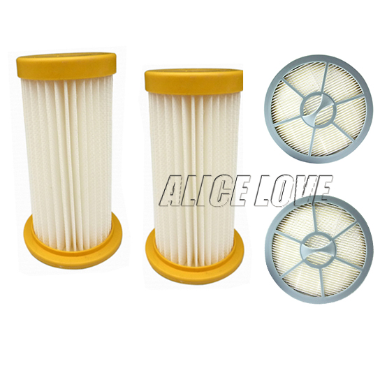 4pcs/sets Free Shipping 2 Vacuum Cleaner Filter+2 Air Outlet HEPA Filter For Philips FC8208 FC8250 FC8260 FC8262 FC8264