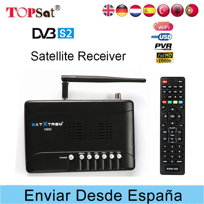 Receptor DVB-S2 X800 FTA Satellite TV Receiver HD TV tuner With USB Wifi Support CLINES AC3 Biss key cheaper than V7 HD V8 super