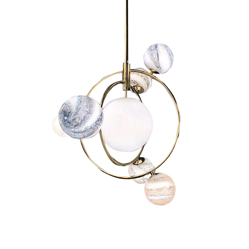 Seven Pendant Ceiling 3D Moon Lamp - Lamps & Lighting
