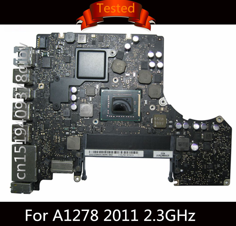 Tested Motherboard for Macbook Pro 13 A1278 2011 Logic Board Laptop I5 2.3GHz 2.4GHz 2.8GHz Motherboard 820-2936-A 820-2936-B 631 0347 m40a mlb 820 1900 a oem logic board 1 83 t2400 ghz for m mini a1176 emc 2108 ma608 gma 950 64m