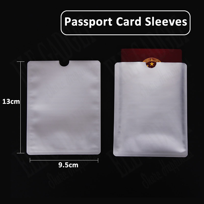 10 Pcs Anti-Scan Card Sleeve Passport Protector Anti-magnetic Aluminum Foil Portable Bank Card Holder