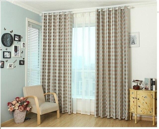 Eenvoudige raster serie woonkamer gordijnen/Voor jongeren kamer ...