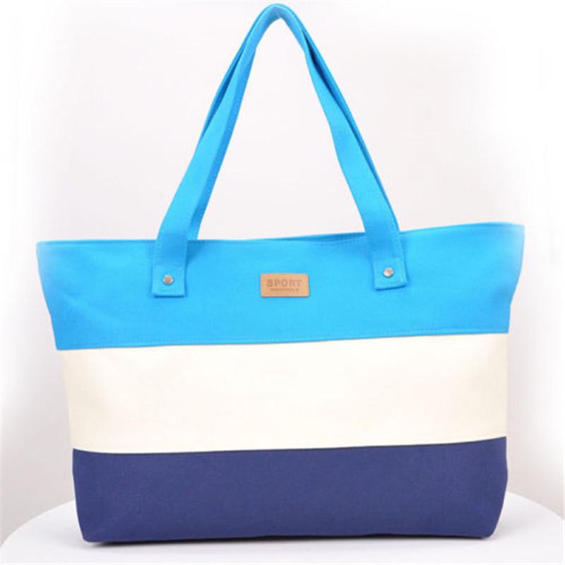 2017 New Mujer Summer Messenger Bag Beach Handbag Bags Brand Totes Women Ladies Stripes Canvas Shoulder Bag Drop Shipping N508 7