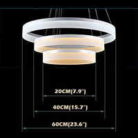 Free Shipping Round LED 54w Chandelier Lights Lighting Modern Acrylic Lamps Luxurious Three Ring Ceilings Light