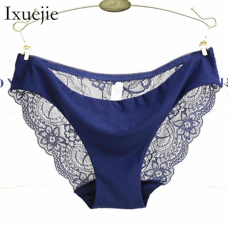 S-XXL 5 Size Women Sexy Underwear Transparent Hollow Women's Lace   Panties   Seamless   Panty   Briefs Intimates