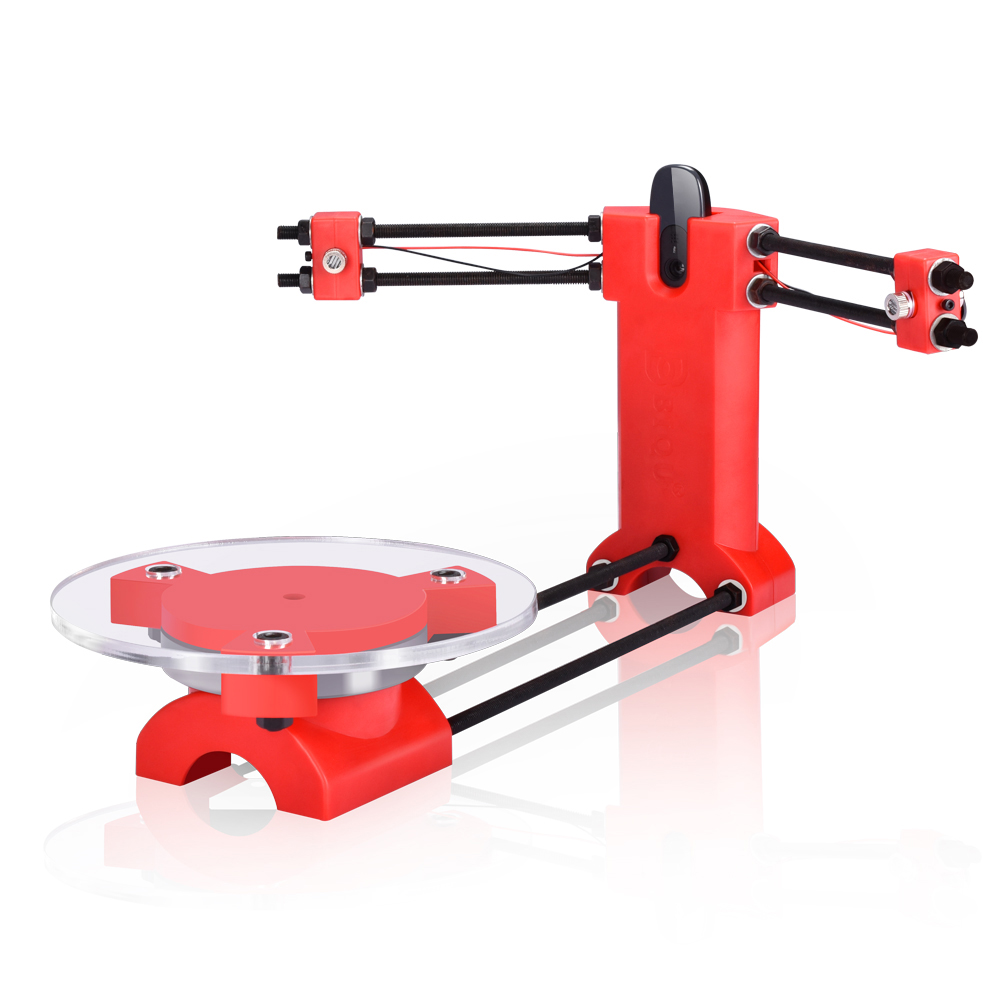 3D сканер лазерный DIY Набор Reprap 3d с открытым исходным кодом портативный красный литьевой пластик 3d сканер для 3d принтера